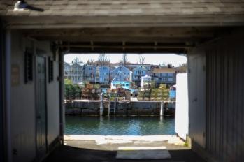 Docks across the water.